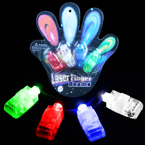 Fun Central I579 LED Light Up Finger Lights - Assorted 4ct