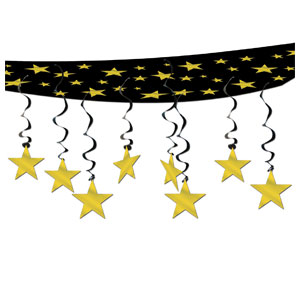 Star Ceiling Decor - Gold