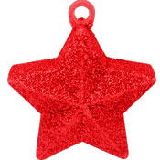 Star Glitter Balloon Weight - Red