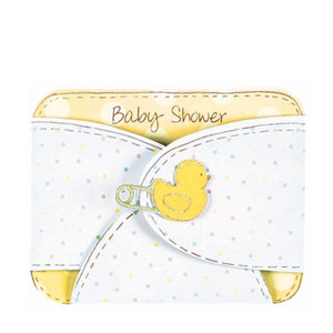 Jumbo Diaper Baby Shower Invitation - 8ct