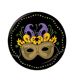 Mardi Gras Magic 7 Inch Plates