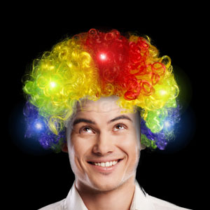 LED Afro Wig - Multicolor