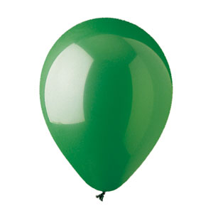 11 Inch Green Latex Balloons- 100ct