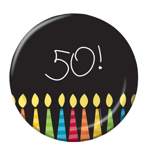 50 Candles Luncheon Plates - 8ct