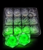 LED Light Up Ice Cubes - Green