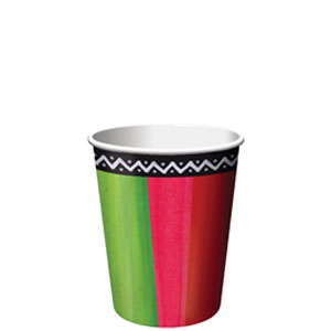Fiesta Stripes 9 oz. Cups- 8ct