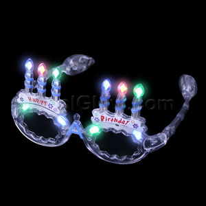 LED Happy Birthday Eye Glasses - Multicolor