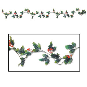Holly and Berry Garland - 6ft