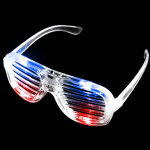 LED Shutter Shades - Red-White-Blue