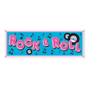 Rock N Roll Sign Banner - 5ft