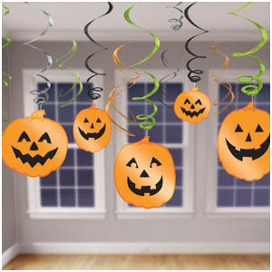 Halloween Hanging Swirl Decorations- 12ct