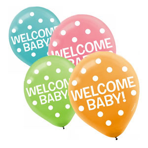 Welcome Baby Balloon - Assorted