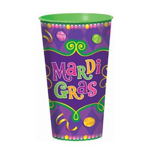 Mardi Gras Large Cup - 28 oz.
