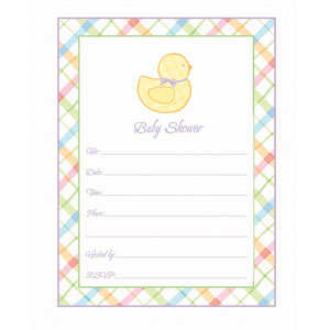 Ducky Baby Shower Invitations - 20ct