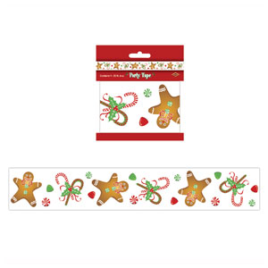 Gingerbread Man Party Tape - 20ft