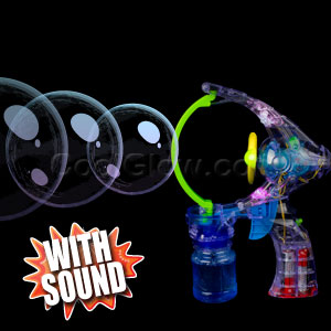 LED Jumbo Bubble Gun with Sound