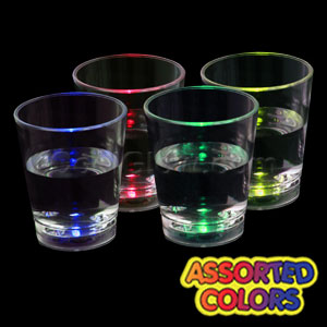 LED Liquid Activated Shot Glass - Assorted