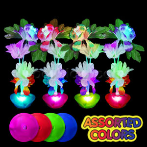 LED Fiber Optic Flower Centerpiece - Circle