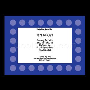 Blue Polka Dots - Custom Invitations