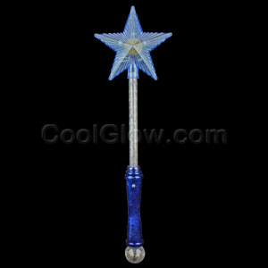 LED 16 Inch Star Wand with Crystal Ball
