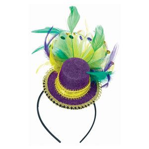 Top Hat and Feather Headband