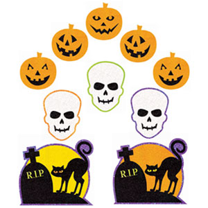 Glitter Halloween Cutouts- 10ct