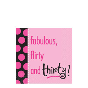 Another Year of Fabulous 30 Beverage Napkins- 16ct