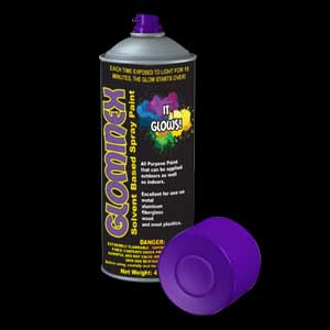 Glominex Glow Spray Paint 4 oz - Purple