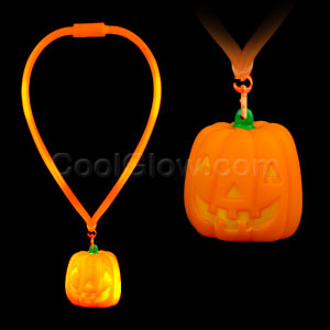 LED Flashing Lanyard - Pumpkin