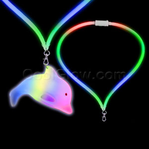 Fun Central G751 LED Light Up Flashing Lanyard - Dolphin
