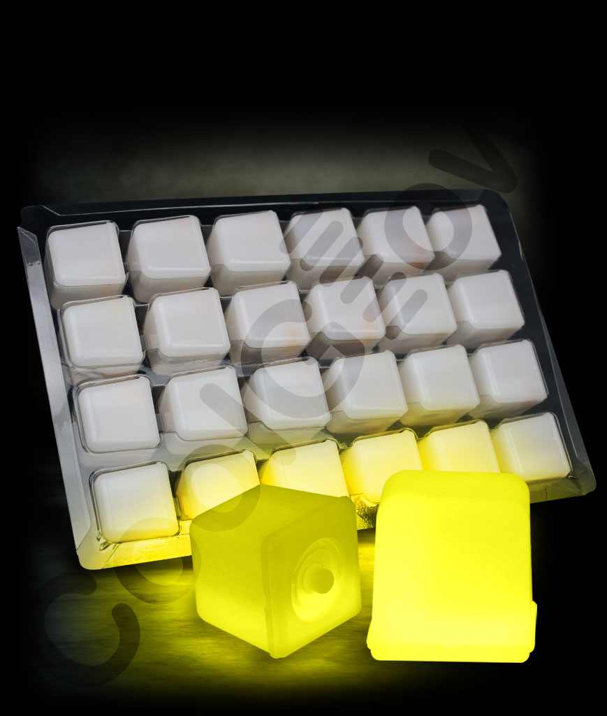 Glowing Ice Cubes - Yellow