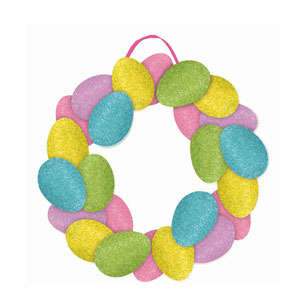 Easter Egg Glitter Wreath