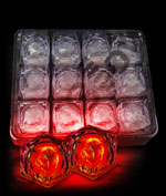 LED Light Up Ice Cubes - Red