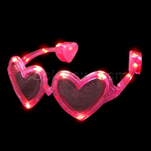 LED Heart Sunglasses - Pink