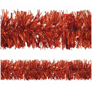 Prismatic Red Tinsel Garland- 25ft
