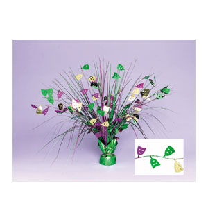 Mardi Gras Spray Centerpiece- 18 Inch