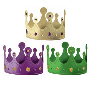 Mardi Gras Crowns-Assorted