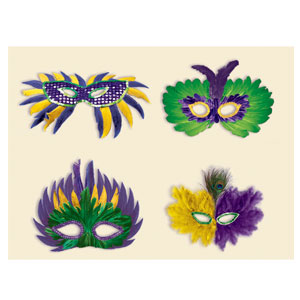 Small Feather Masks-Assorted