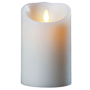 3.5x5 Inch Luminara Candle with Timer - Ivory