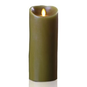 4x9 Inch Luminara Candle with Timer - Sage