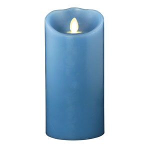 3.5x7 Inch Luminara Candle with Timer - Blue