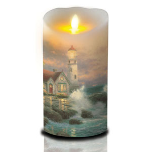 7 Inch Thomas Kinkade Luminara Candle - Beacon of Hope
