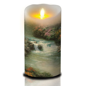 7 Inch Thomas Kinkade Luminara Candle - Still Waters