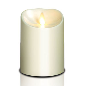 4x5 Inch Outdoor Luminara Candle with Timer - Ivory