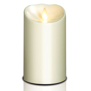 4x7 Inch Outdoor Luminara Candle with Timer - Ivory