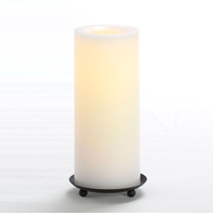 8 Inch Flameless Supreme Quality Pillar Candle with Timer - White Unscented