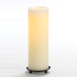 10 Inch Flameless Supreme Quality Pillar Candle with Timer - Cream with Vanilla Scent
