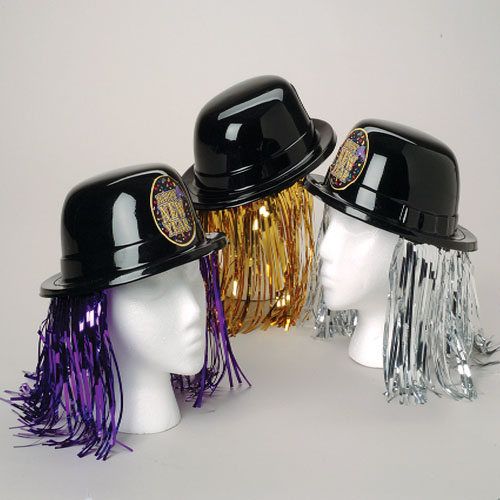 New Years Derby Hats with Metallic Fringe