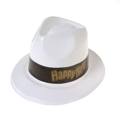 White New Years Fedora Hats
